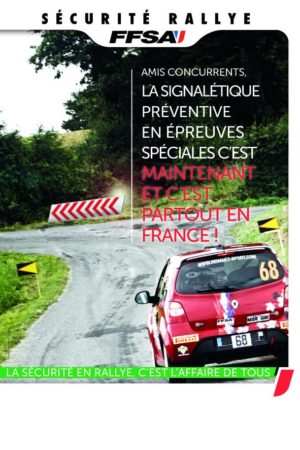 Sécurité Rallye signalétique